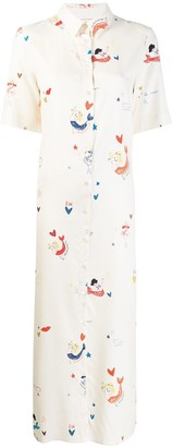 Parker Chinti & mermaid shirt dress