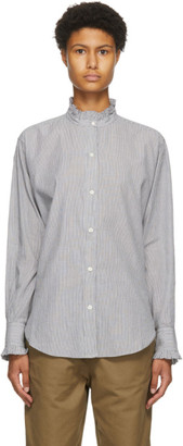 Etoile Isabel Marant Black and White Stripe Saoli Shirt