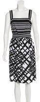 David Meister Abstract Print Sleeveless Dress