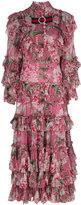 Gucci floral print ruffle dress