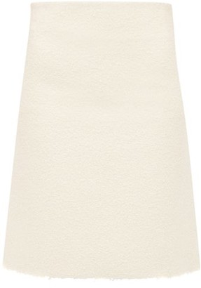 Bottega Veneta A-line Boucle Skirt - Womens - Ivory