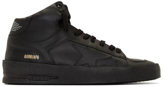 Golden Goose Black Stardan Mid-Top Sneakers