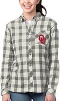 Buffalo David Bitton Unbranded Women's Heathered Gray/Cream Oklahoma Sooners Plaid Flannel Button-Down Shirt