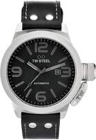 TW Steel Men's Automatic Stainless Steel Case Leather Strap Watch