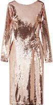 Tom Ford Open-back Sequined Satin Dress - Antique rose