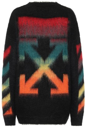 Off-White Mohair-blend sweater