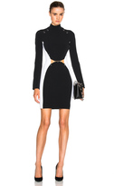 Thierry Mugler Pierced Fitted Cady Dress