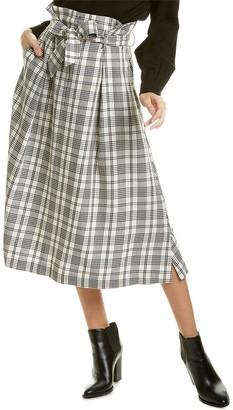 Max Mara Uscita Wool-Blend Midi Skirt