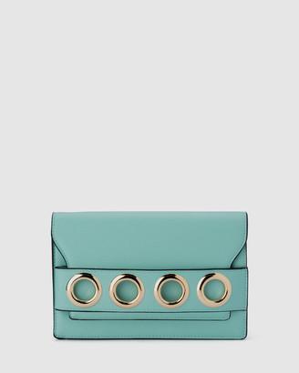 Olga Berg Women's Handbags - Kaia Eyelet Trim Shoulder Bag - Size One Size at The Iconic