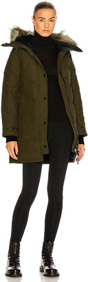 Canada Goose Shelburne Parka with Coyote Fur in Military Green | FWRD