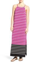 Vince Camuto &Magnet Stripe& Maxi Dress
