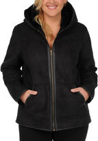 JCPenney Excelled Leather Excelled Faux-Shearling Jacket - Plus