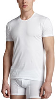 Ermenegildo Zegna Crewneck Stretch-Cotton Tee, White