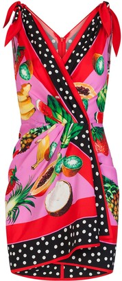 Dolce & Gabbana Fruit Print Mini Dress