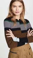 Proenza Schouler White Label Fine Gauge Rib Pullover