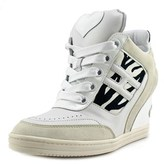 Hogan H214 Attractive Zebra Open Toe Leather Wedge Heel.