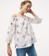 LOFT Floral Eyelet Off The Shoulder Top