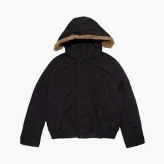 Lacoste Men's Detachable Faux Fur Hood Short Quilted Parka