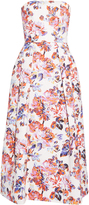 Mary Katrantzou Pearl Solar Rose-print strapless dress