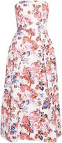 Mary Katrantzou Pearl Solar Rose-print strapless dress