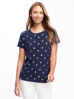 Old Navy EveryWear Slub-Knit Printed Tee for Women
