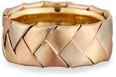Eli Gents Braided 18K Yellow, Rose & White Gold Wedding Band Ring, Size 10