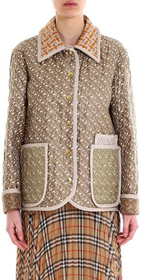 Burberry Mixed Print Quilted Jacket