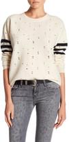 Current/Elliott Crew Neck Destroy Wool Sweater