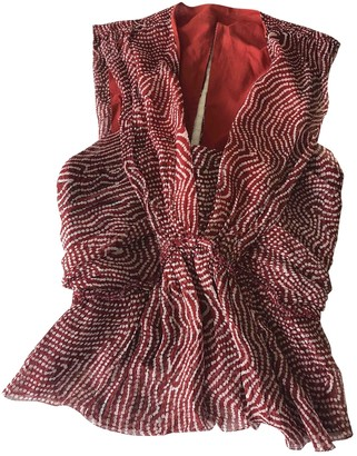Isabel Marant Red Silk Top for Women