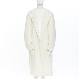 Celine White Wool Coats