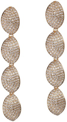 Nina Jewelry Linear Pave Petal Drop Earrings