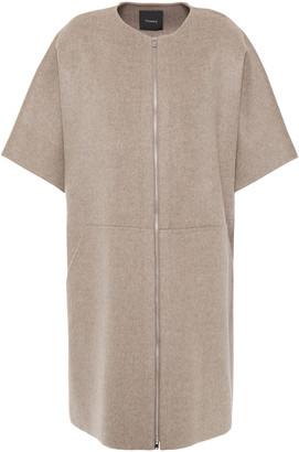 Theory Melange Wool And Cashmere-blend Felt Coat
