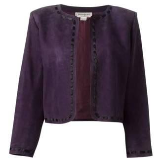 Saint Laurent Purple Suede Jackets