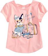 Epic Threads Bon Voyage T-Shirt, Little Girls, Created for Macy's