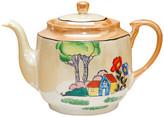 One Kings Lane Vintage Midcentury Japanese Porcelain Teapot - multi