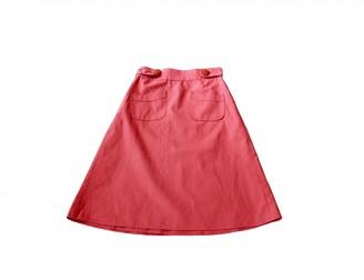 Madame à Paris Orange Linen Skirt for Women