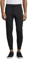 John Varvatos Stretch-Knit Moto Jogger Pants, Black