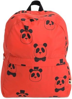 Mini Rodini Panda Print Nylon Backpack