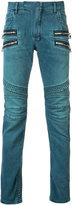 Balmain straight fit biker jeans - men - Cotton/Polyethylene - 32