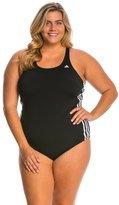 adidas Women's Plus Size 3Stripe One Piece Swimsuit - 8150233