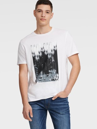 DKNY Men's Nyc Lights Tee - White - Size XS