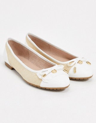 Dune hastings ballet flats in natural