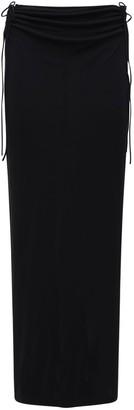 Dion Lee Viscose Jersey Midi Skirt