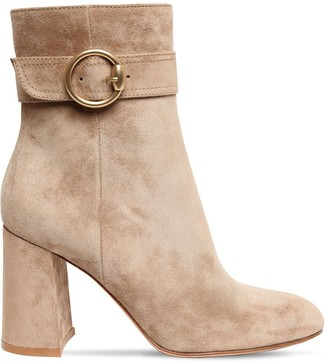 Gianvito Rossi 85mm Suede Ankle Boots