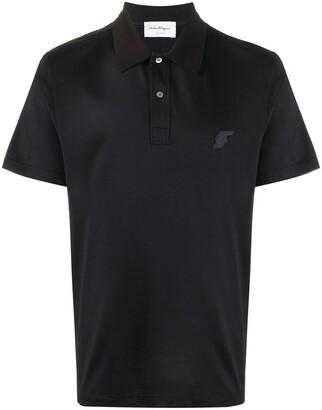 Salvatore Ferragamo Logo Patch Polo Shirt