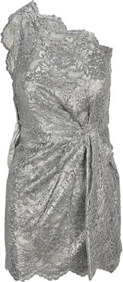 DSQUARED2 Lace Draped One-Shoulder Dress