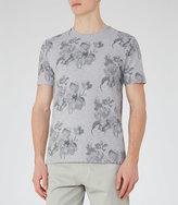 Reiss Michael Floral Print T-Shirt