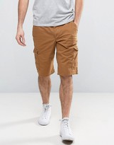Esprit Cargo Shorts In Camel