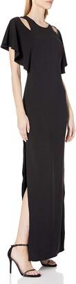 Halston Women's Flowy Sleeve Gown w Cut Outs
