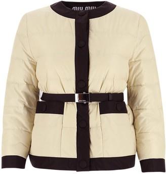 Miu Miu Stud Fastening Puffer Jacket